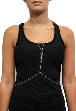 Raw Gemstone Body Chain