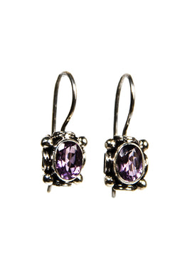 Hook Amethyst Earrings