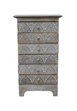 Cabinet 6 Drawer Mehrab Mango Wood 39x32x64cm