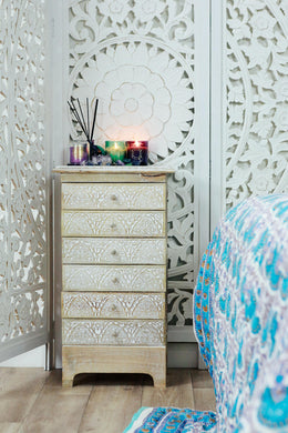 Mango Wood Mehrab 6 Drawer Cabinet