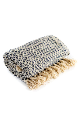 Patterned Tassel Cotton Throw