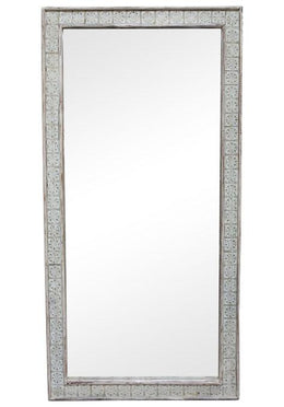 Indian Brass Tile Mirror