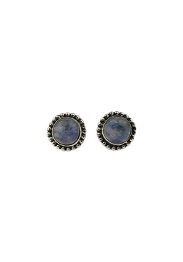 Gem Stud Silver Setting Earrings
