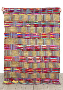 Colourful Dotz Cotton & Jute Rug