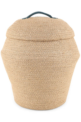 Lidded Jute Basket