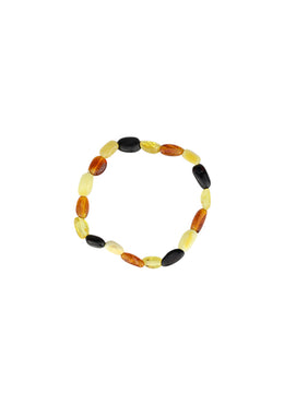 Bracelet Amber Teething Stretch Multi