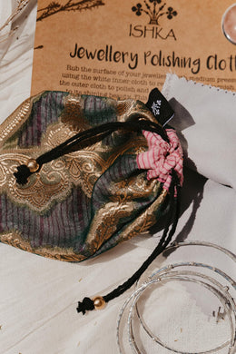 XL Silk Jewellery Pouch