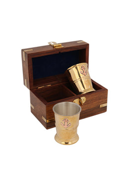 Giftbox Sir Jono Shotglass 2 Nautical Box 11x6x6.5cm