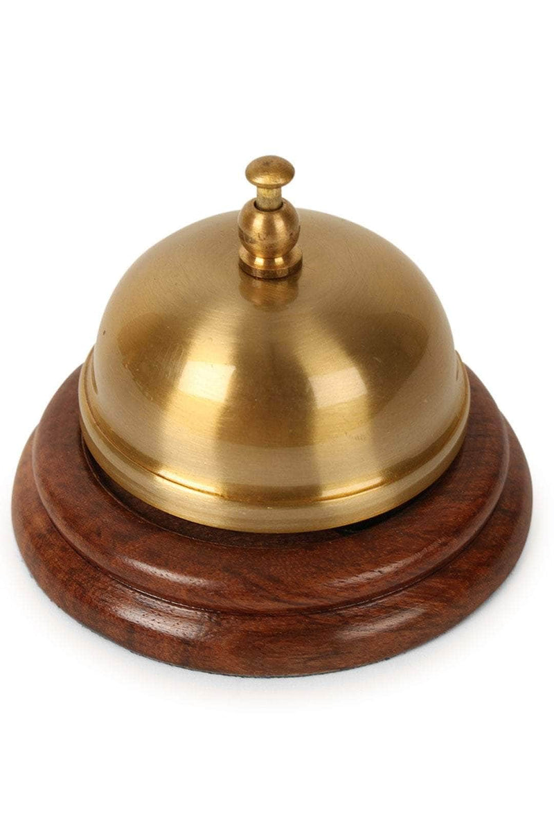 Wooden Base Desk Bell