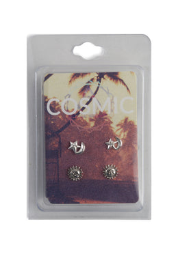 Cosmic Stud Earrings Set of 2