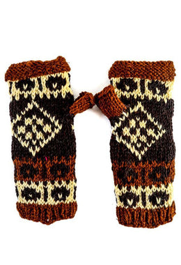 Nepalese Fingerless Gloves Multi