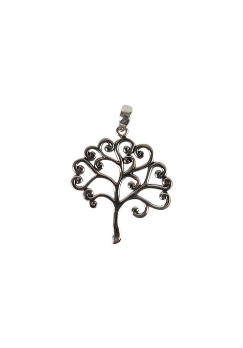 Pendant Silver Tree Curly Branch