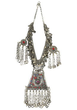 Necklace Choker Afghani With 4 Pendants German Silver