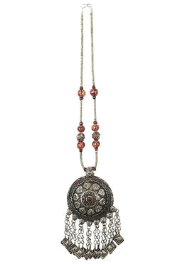 Necklace Kuchi With Turkman Beads German Silver