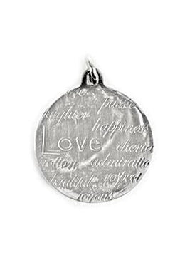 Pendant Disc Engraved Love