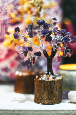 Large Amethyst Gemstone Tree
