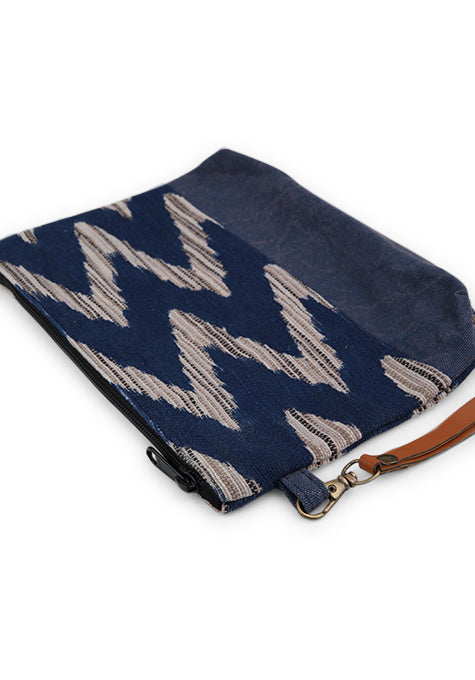 Dhariz Pouch with Leather Wrist Handle