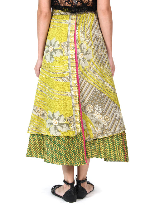 Assorted Recycled Sari Wrap Skirt