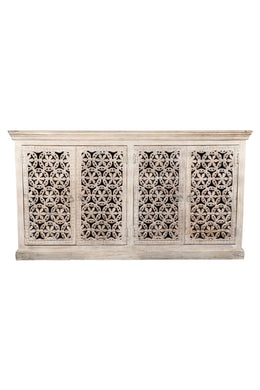 Carved Kolam Sideboard