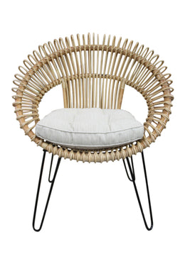 Chair Lounge Rattan Round 82x74x94cm