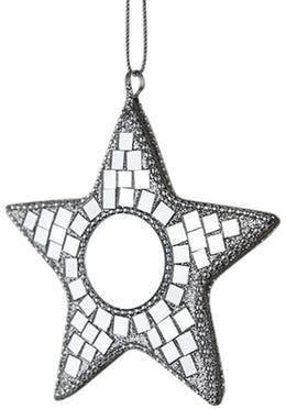 Hanging Star Mosaic Mirror 9cm
