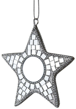 Hanging Star Mosaic Mirror 10cm