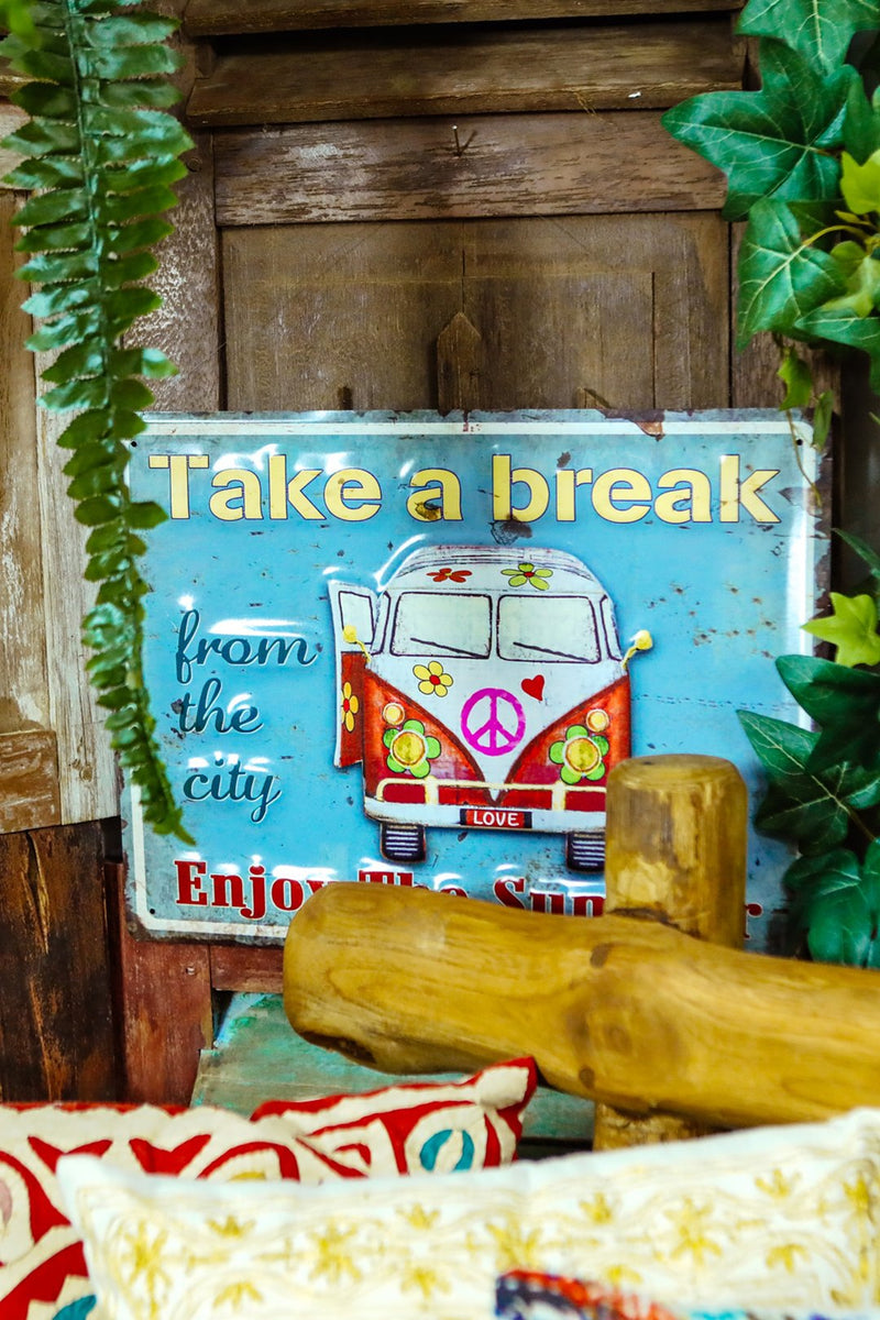 Take A Break Kombi Van Wall Hanging