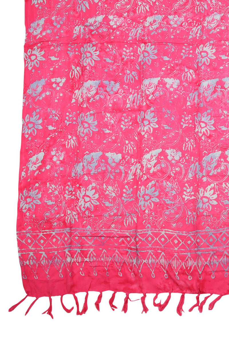 Hot Pink Flower Sarong