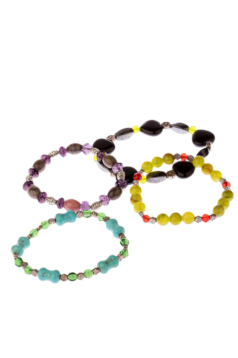 Assorted Gemstone Bead Bracelet