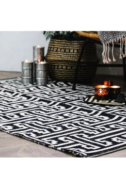 Black Viking Rug
