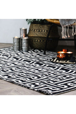 Large Black Viking Rug