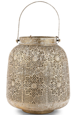 Brass Mesh Candle Holder