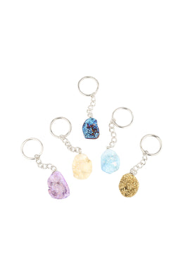 Assorted Gemstone Keyring