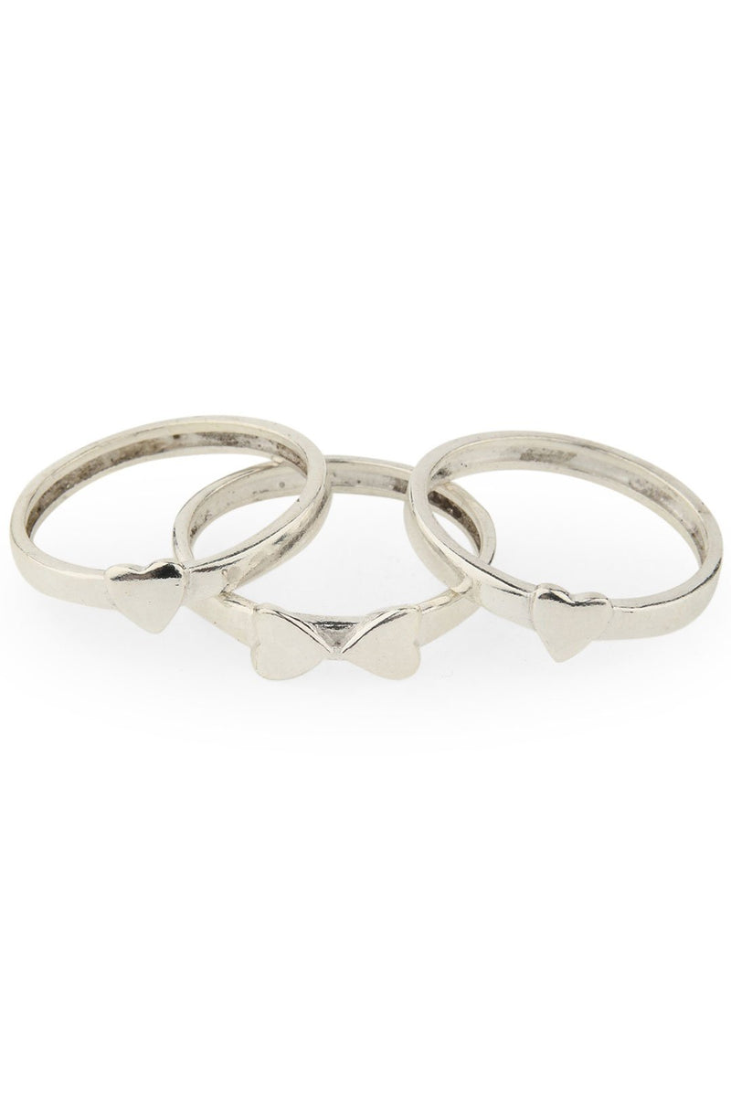 Heart Ring Stack Set