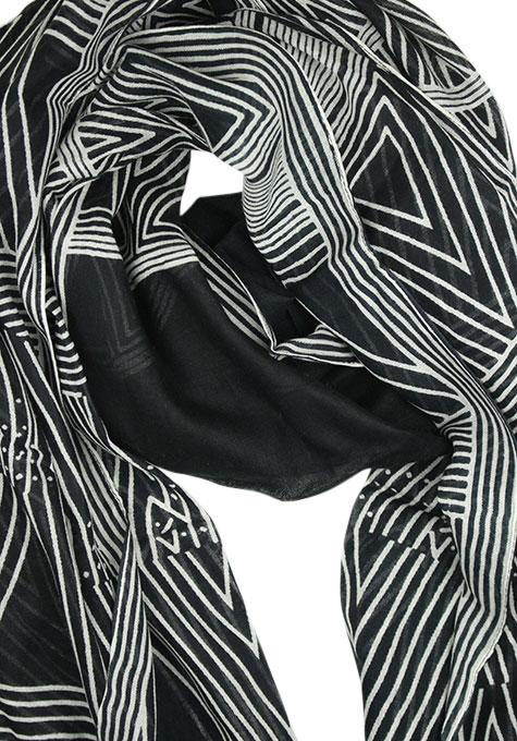 Black Triangle Print Scarf