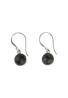 Earrings Round Labradorite