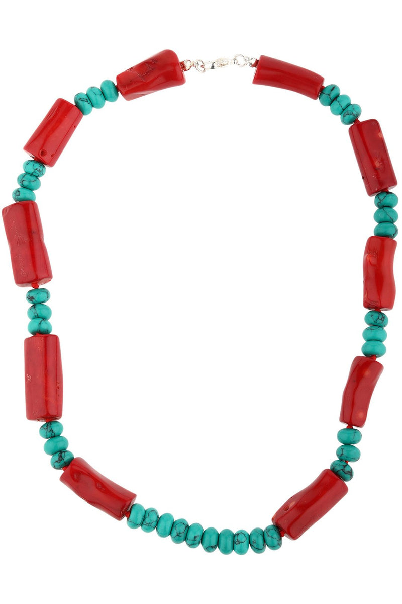 Green Howlite Coral Necklace