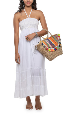 Strapless Crochet Maxi Dress