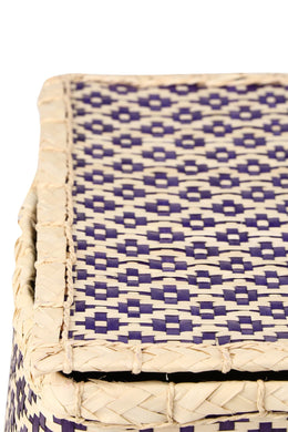Purple Palm Leaf Basket