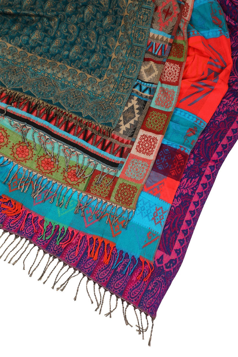 Assorted Aztec Print Shawl