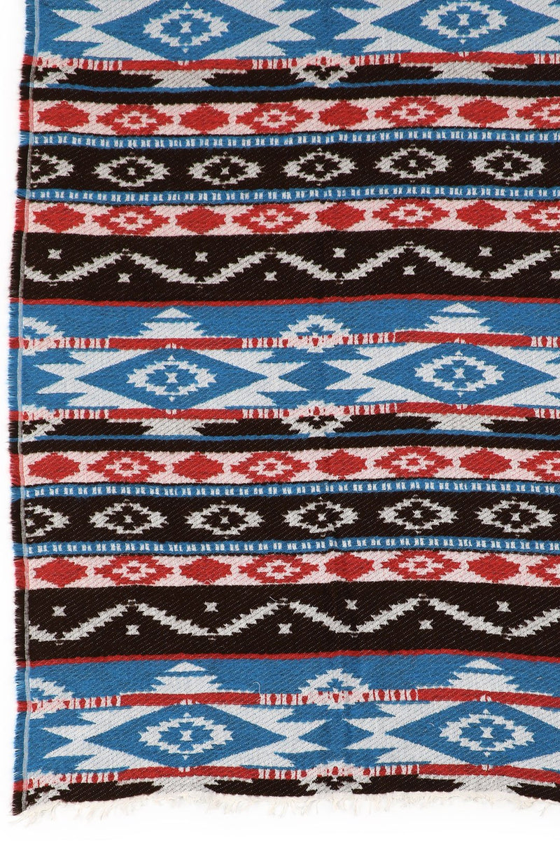 Blue & Red Tribal Shawl