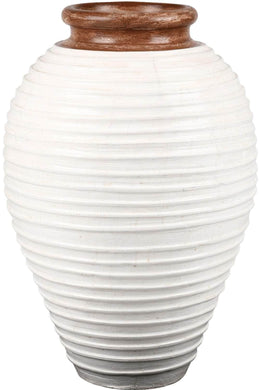White Wash Mexicana Ceramic Vase