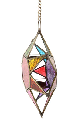 Rainbow Star Glass Lantern