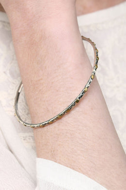 Mix Metal Dotted Bangle