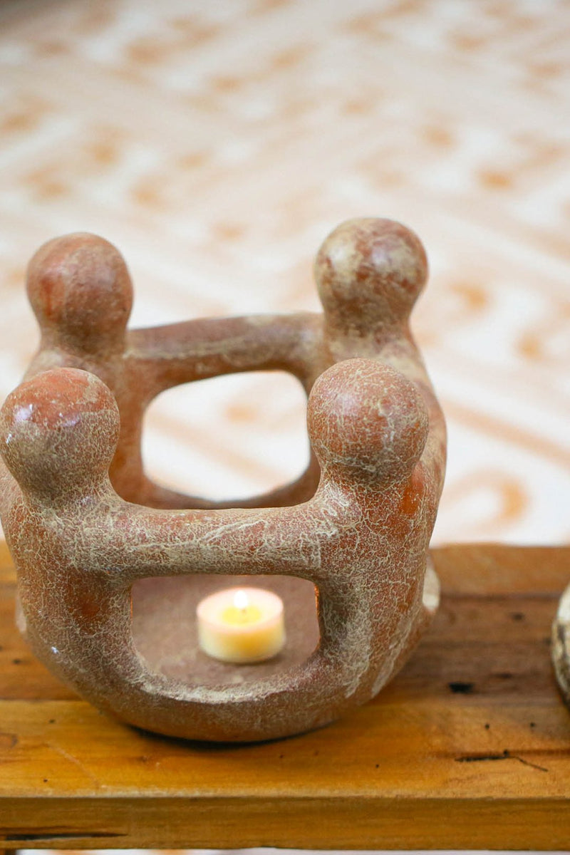 Circle Of Friends Clay Candle Holder