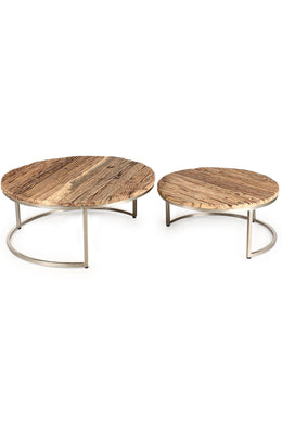 Recycled Hardwood Nesting Tables