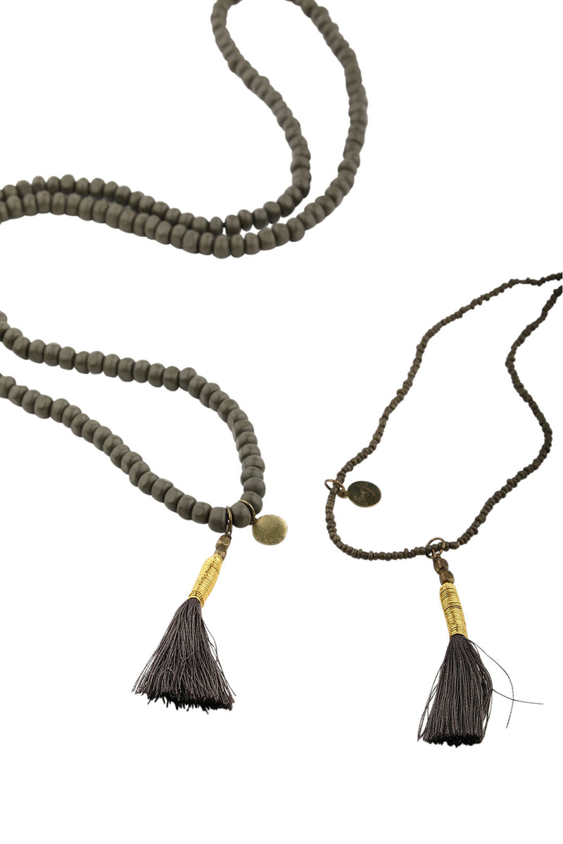 Two Layer Tassel Necklace