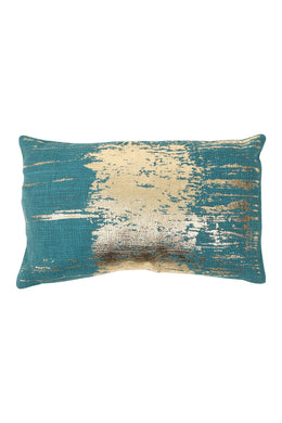 Gold Foil Stripe Rectangle Cushion