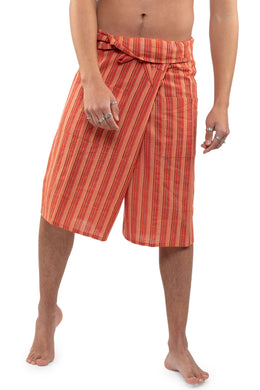 Striped Fisherman Shorts With Bag
