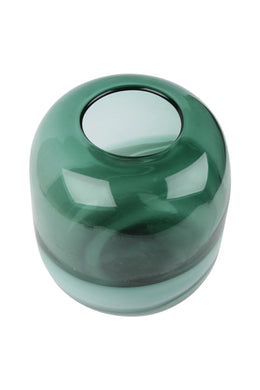 Round Handblown Oceanic Glass Vase